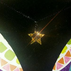 Genuine AB Swarovski Crystal Star Pendant Necklace